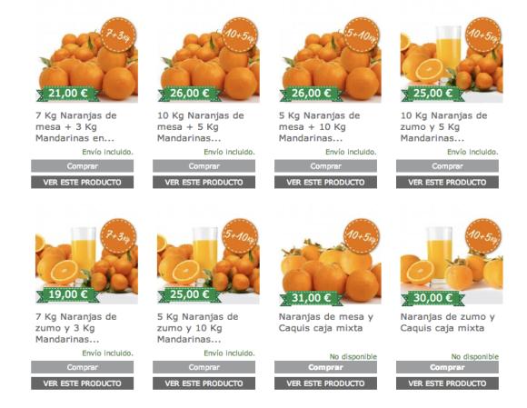 Cajas combinadas de fruta online