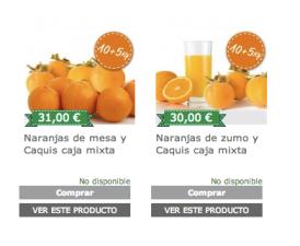 Caquis con naranjas
