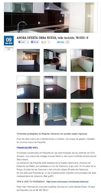Ficha de vivienda con fotos y descripción