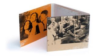Interior del cd con imágenes de los intérpretes