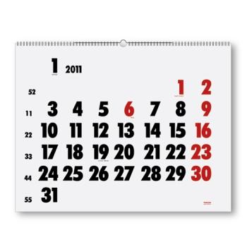 Uno de los calendarios de pared de Vinçon