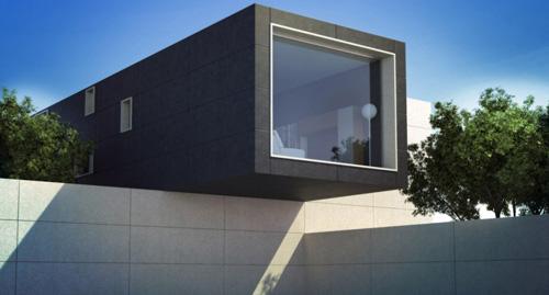 infografía en 3D para diseño de arquitectura moderna