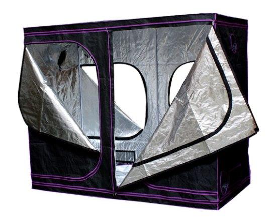 armarios de cultivo con paredes reflectantes