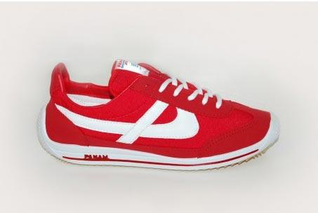 zapatillas Panam modelo original rojo y blanco